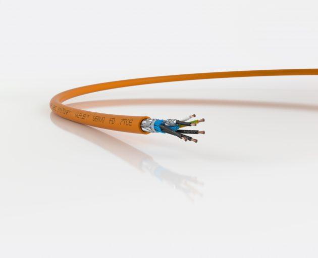 Ölflex Servo FD 7TCE ist eine Leitung für Schaltschrank, Pritsche und Schleppkette. (Bild: U.I. Lapp GmbH)