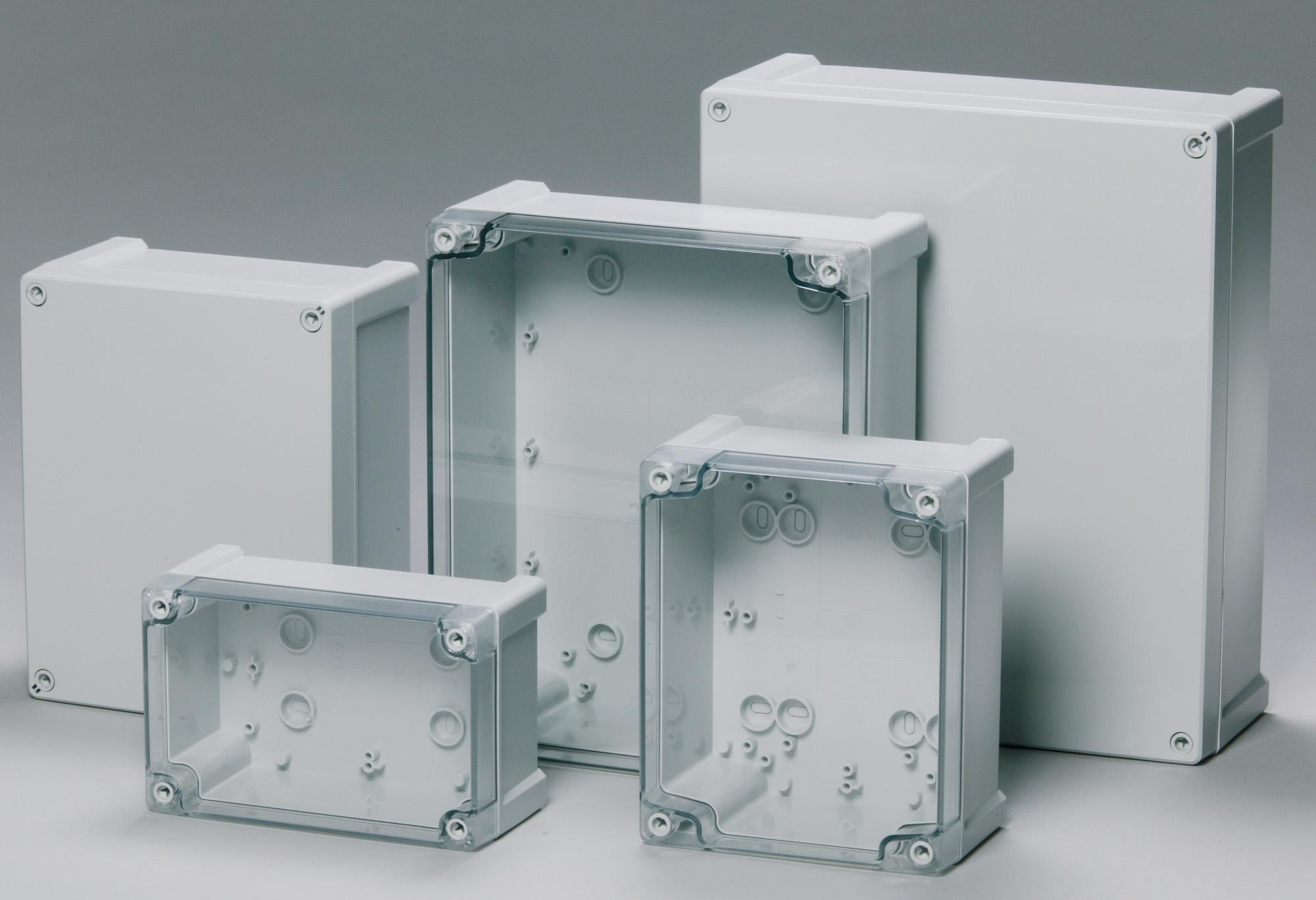 Leicht und robust: Schnellmontage-Schaltkästen aus der Tempo-Familie (Bild: Fibox GmbH)
