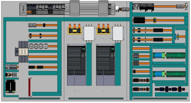 Montageplatten Layout in Eplan Pro Panel (Bild: Ingela)