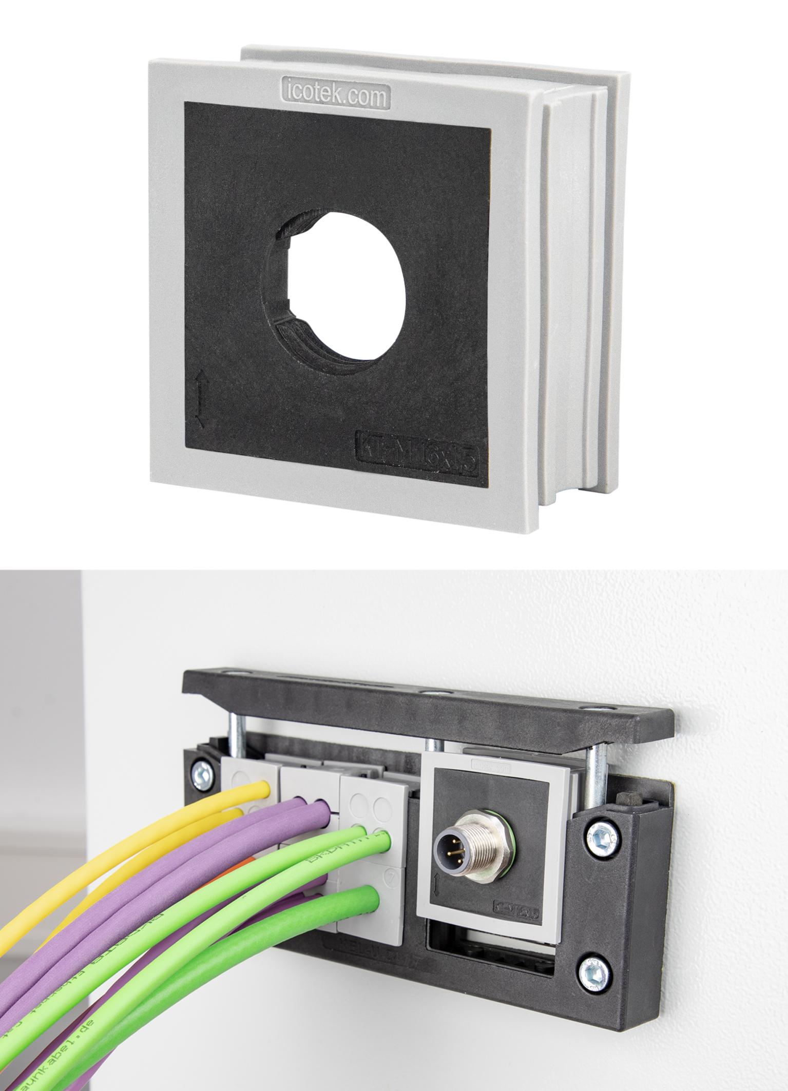 Die KT-M-Kabeltülle ist mit verschiedenen Innengewinden erhältlich (Bild: Icotek GmbH)