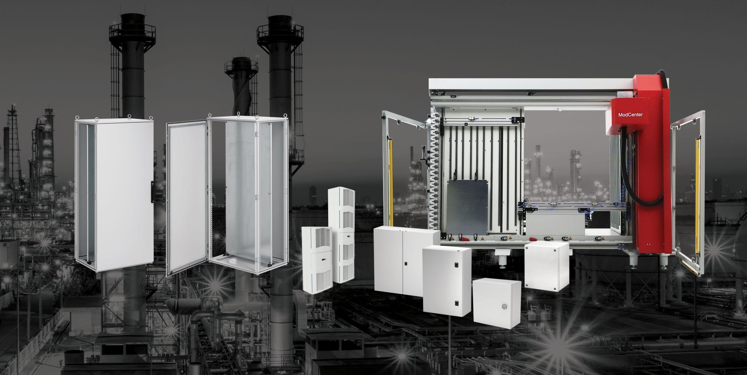 Ein Highlight auf der Hannover Messe ist die Kabelverarbeitungsmaschine Nvent PWA 6000. (Bild: Schroff GmbH)