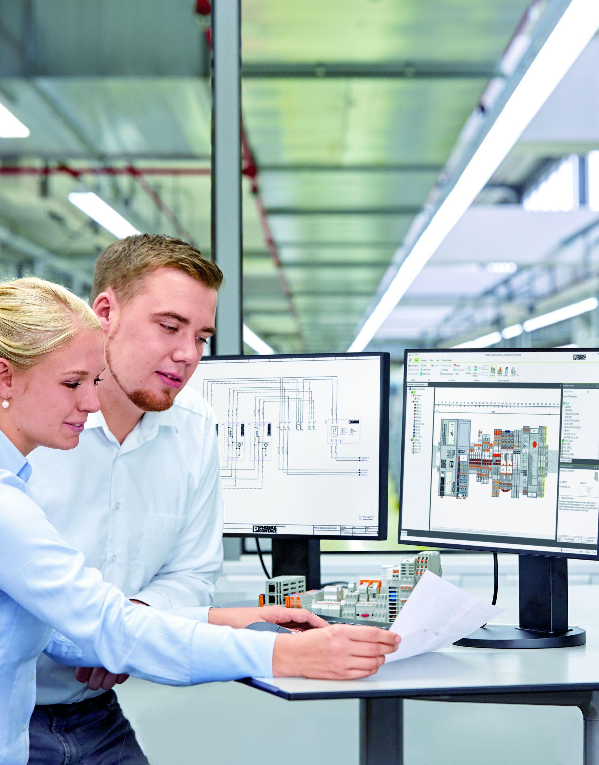 Mit Selektoren und Konfiguratoren begleitet Project Complete die gesamte Wertschöpfungskette im Schaltschrankbau. (Bild: Phoenix Contact Deutschland GmbH)