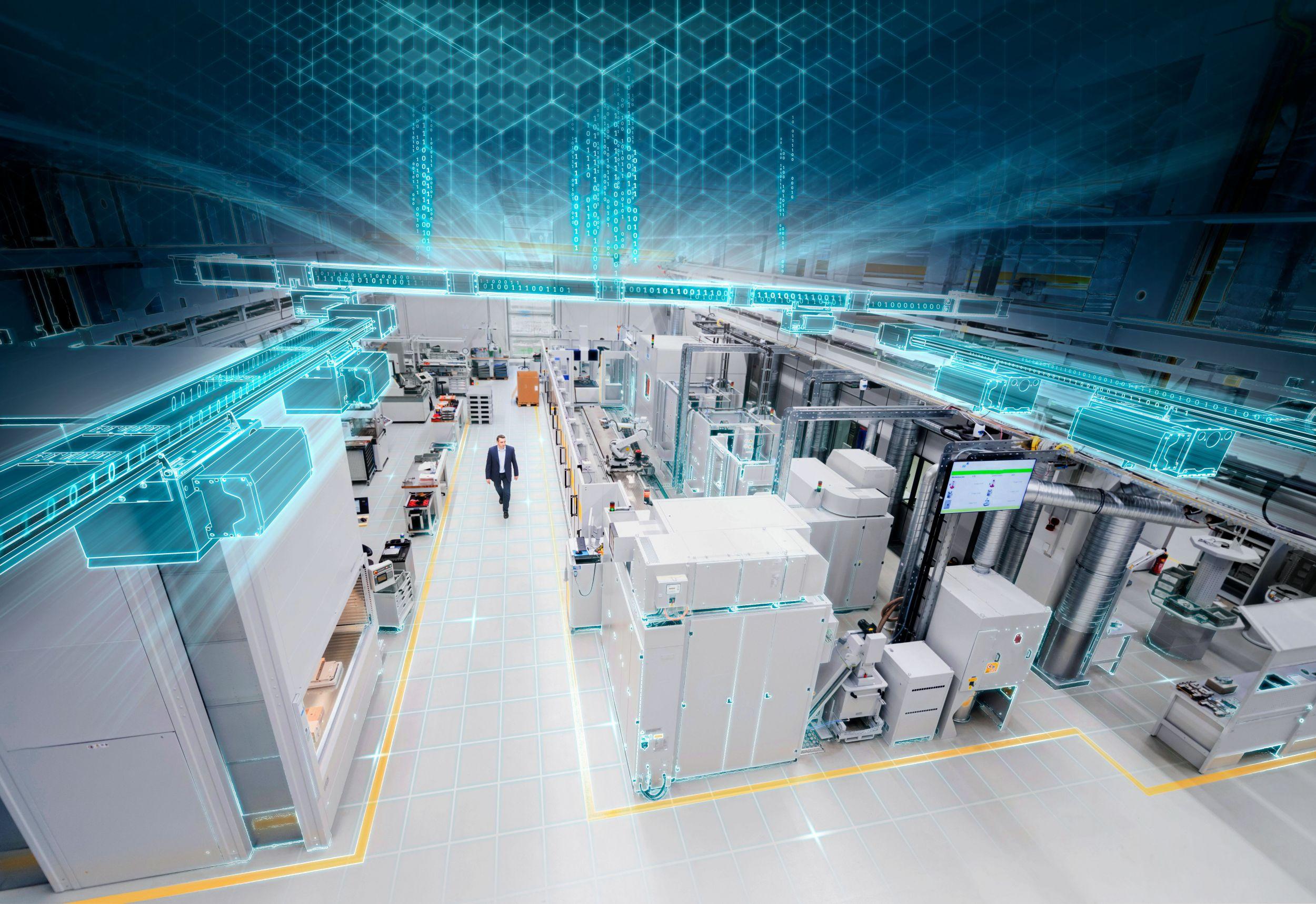 Mit der neuen Powerline-Technologie können die Schienenverteiler-Systeme des Sivacon 8PS-Portfolios künftig nicht nur Strom, sondern auch Daten übertragen. (Bild: Siemens AG)