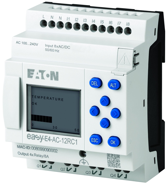 Nun auch für die Gebäudeautomation geeignet: das Steuerrelais EasyE4 (Bild: Eaton Electric GmbH)