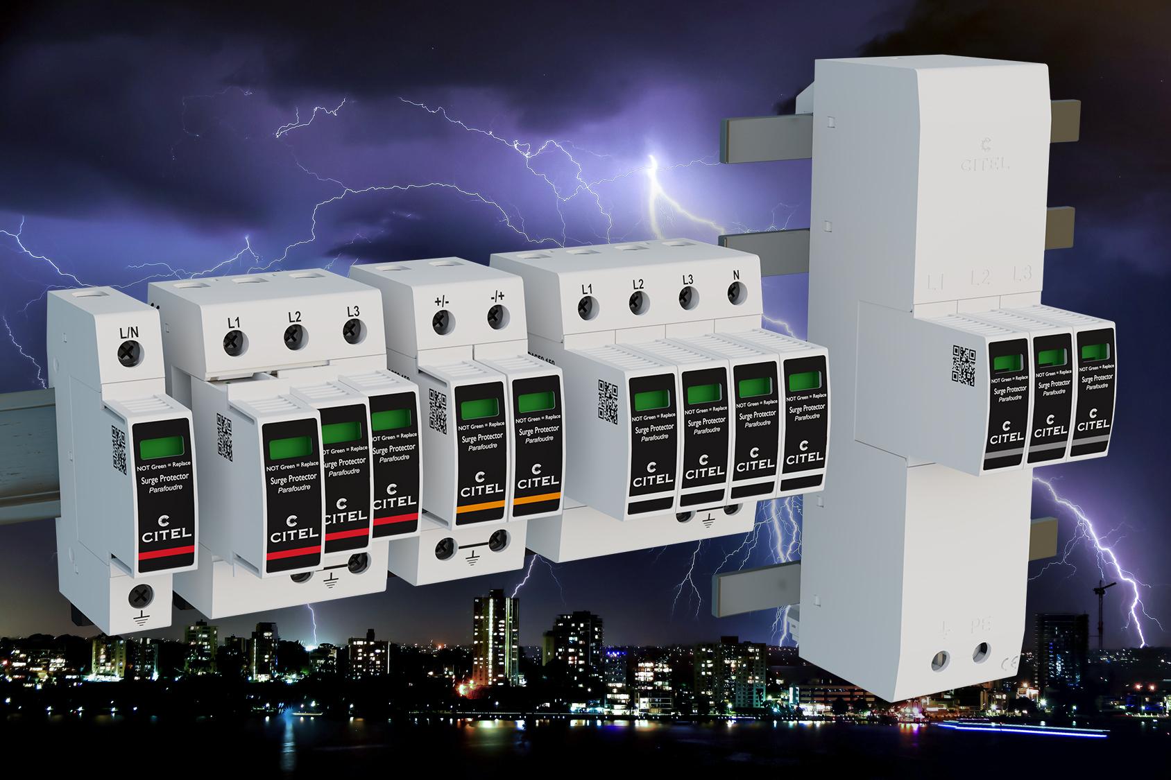 Für alle genormten Verteiler und Schaltschränke geeignet, schützen die neu entwickelten SPDs von Citel Industrie-, Mobilfunk- und Photovoltaikanlagen. (Bild: Citel Electronics GmbH)