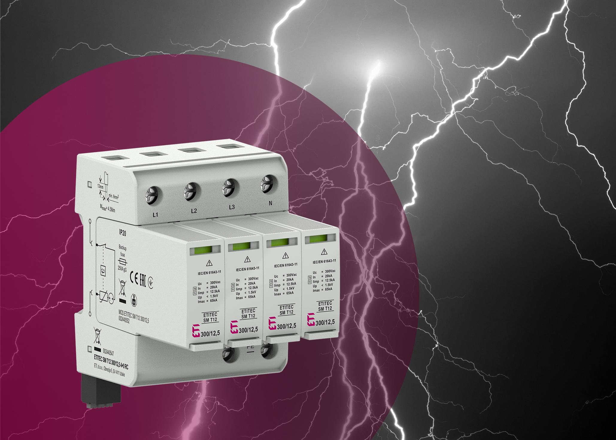 Die neuen ETI Blitz- und Überspannungsschutzgeräte besitzen eine hohe Ableitfähigkeit und eine schnelle Ansprechzeit. (Bild: ETI DE GmbH)