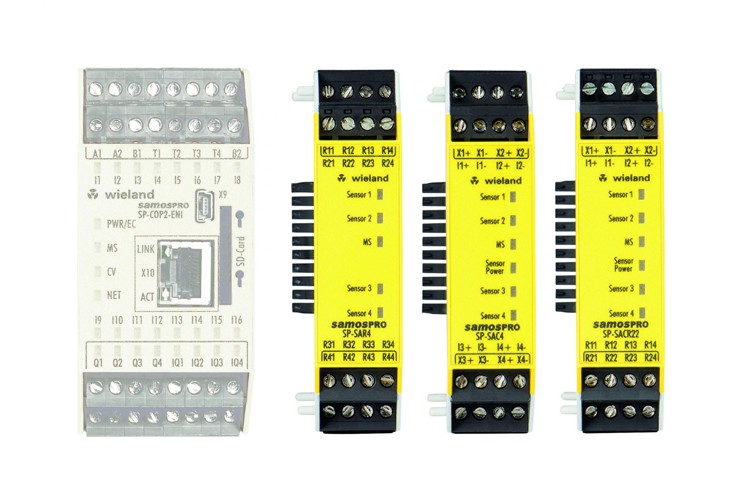 Mit der Erweiterung seiner Sicherheitssteuerung Samos Pro um drei neue Eingangsmodule ermöglicht Wieland ab sofort eine sichere Analogwertverarbeitung. (Bild: Wieland Electric GmbH)