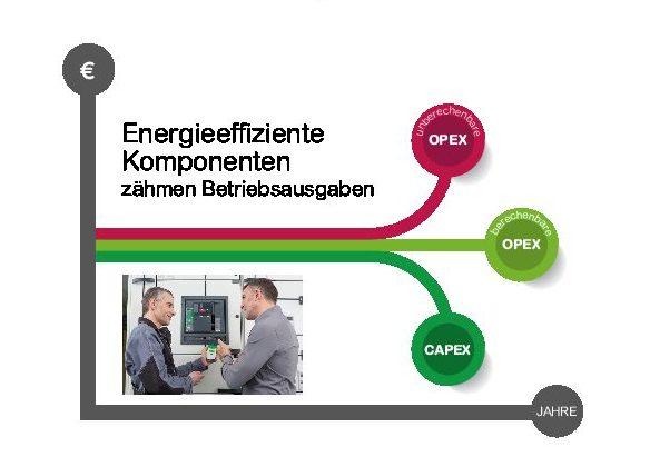 Energieeffiziente Komponenten in digitalisierten Produktions- und Geschäftsprozessen können die Energieausgaben in der OpEx auf ein stabiles und berechen - bares Niveau senken.(Bild: Schneider Electric GmbH)