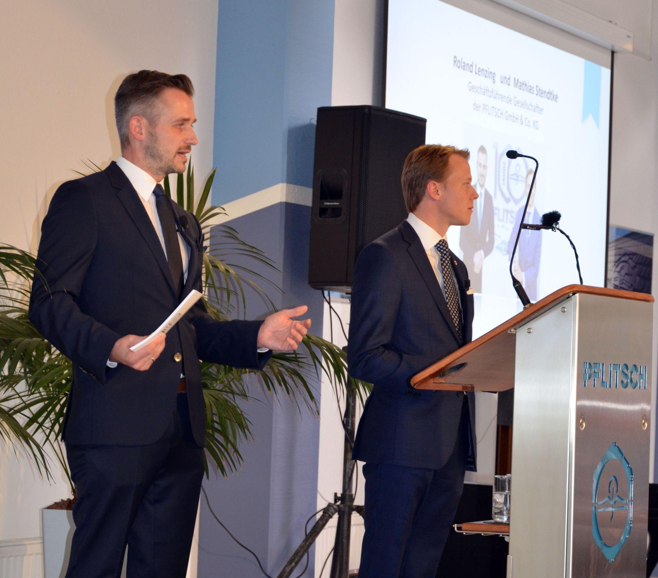 In der vierten Generation führen Roland Lenzing (links im Bild) und Mathias Stendtke das Familienunternehmen Pflitsch. (Bild: TeDo Verlag GmbH)