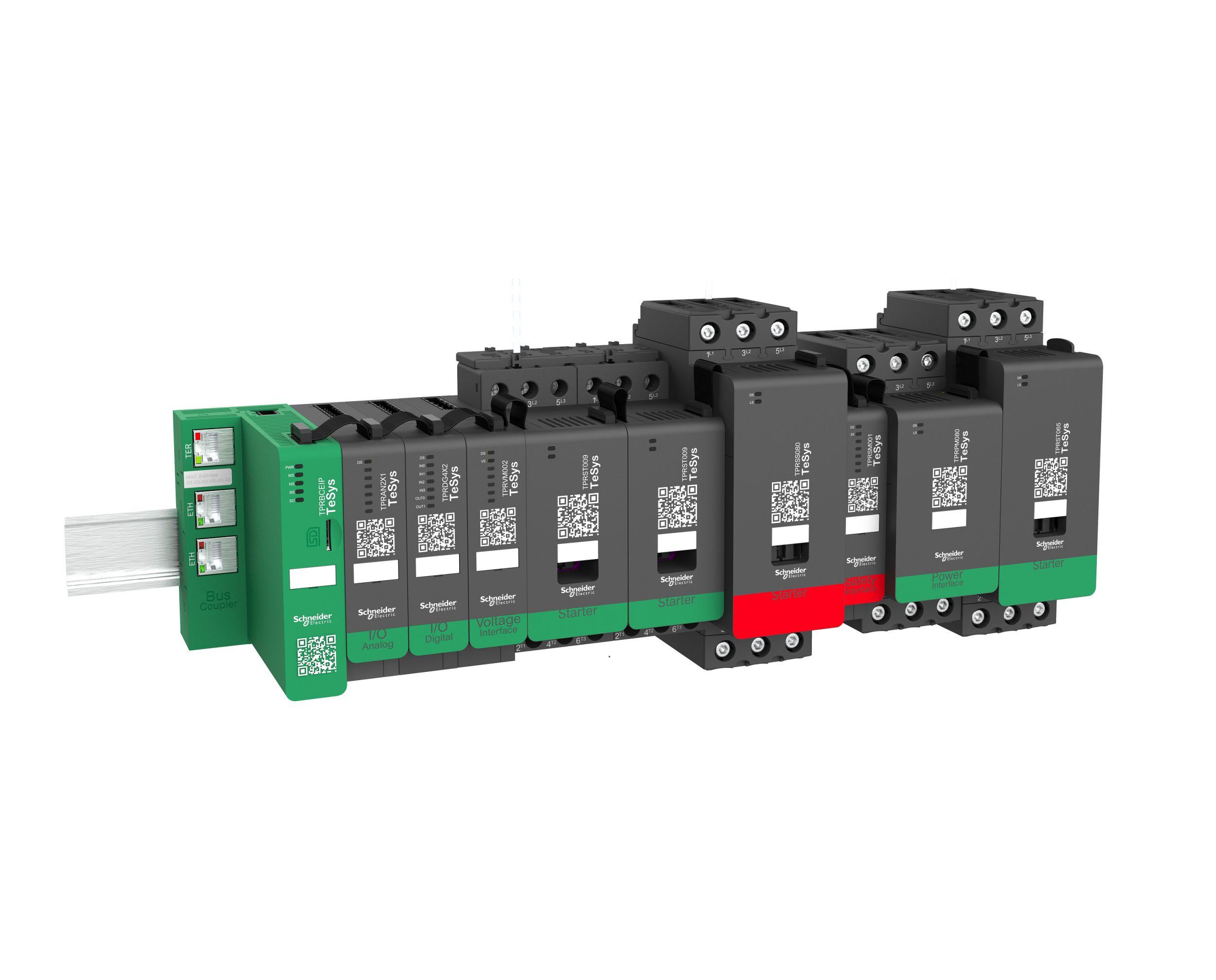 Das Lastmanagementsystem TeSys Island schaltet, schützt und verwaltet Motoren und andere Lasten bis zu 80A. (Bild: Schneider Electric GmbH)