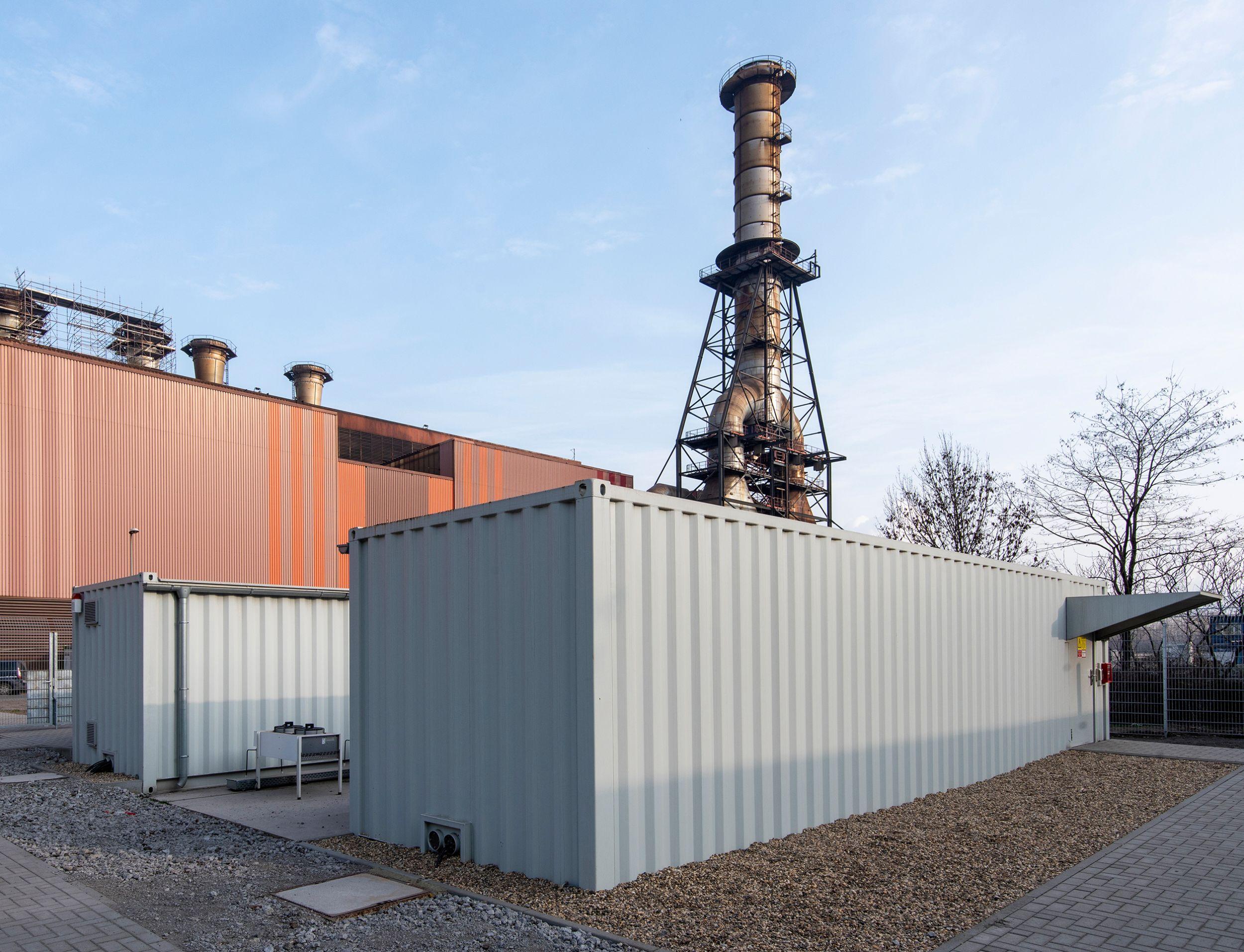 Die standardisierten Data Center Container von Rittal unterstützen Thyssenkrupp Steel bei der Digitalisierung produktionsnaher Prozesse. (Bild: Rittal GmbH & Co. KG)