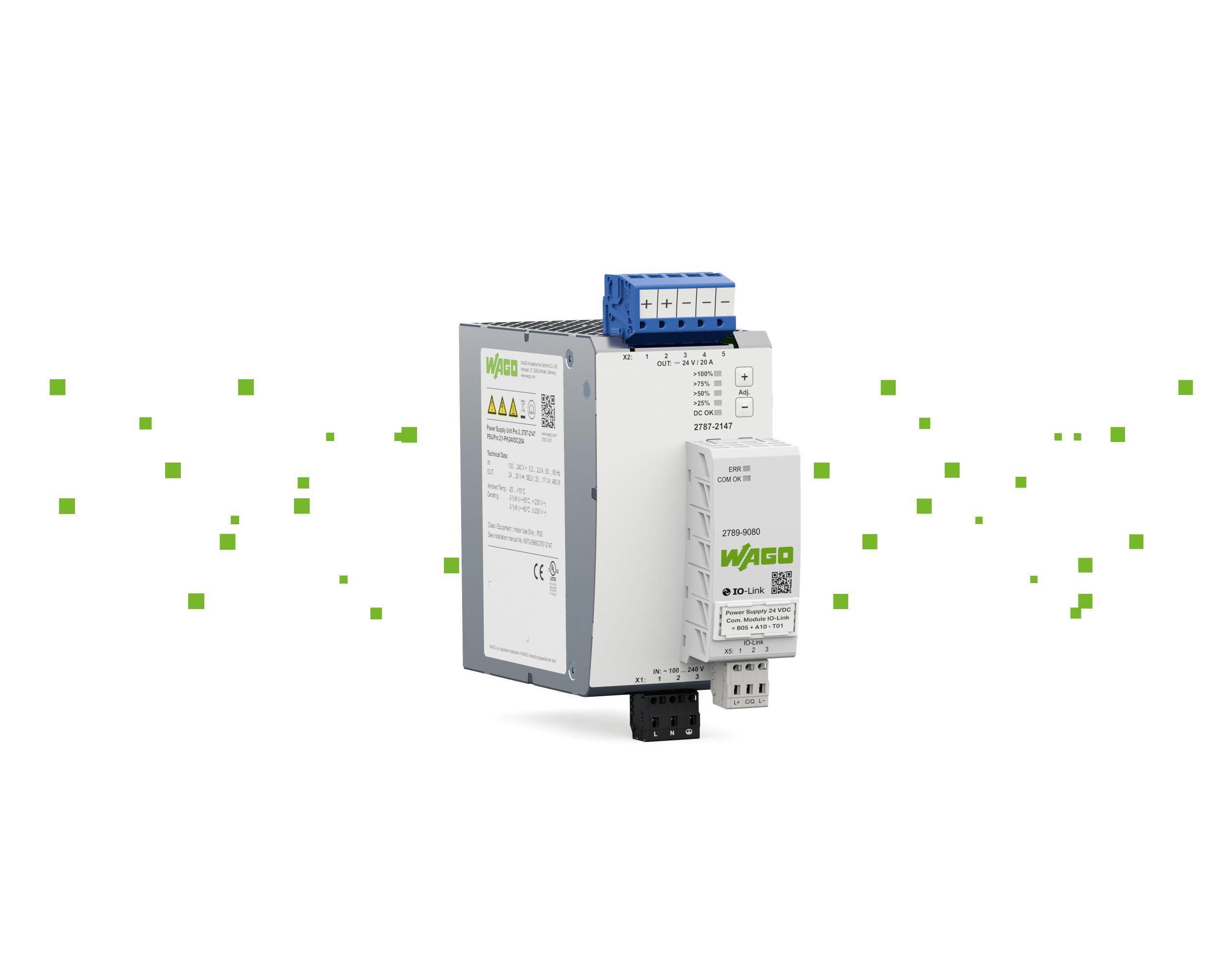 Die Stromversorgung Pro 2 von Wago erfüllt die Anforderungen des Industrie-4.0-Zeitalters. (Bild: Wago Kontakttechnik GmbH & Co. KG)