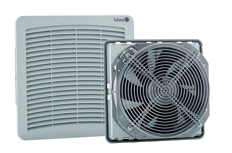 Der neue Lüftungskühler FixCool kann pro Stunde bis zu 870 Kubikmeter Luft umwälzen. (Bild: Häwa GmbH)