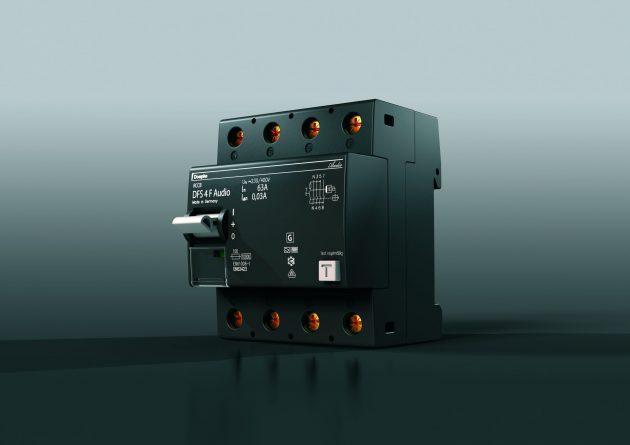 Auch optisch eine Besonderheit: der Fehlerstrom-Schutzschalter DFS Audio (Bild: Doepke Schaltgeräte GmbH)
