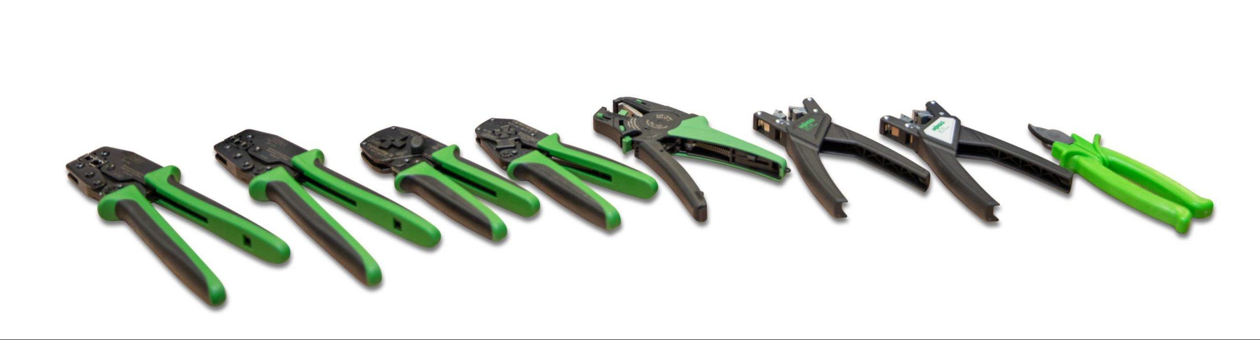 Werkzeuge zum Abmanteln, Abisolieren, Crimpen und Messen