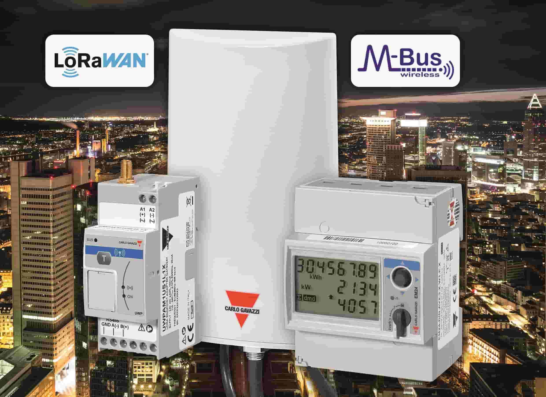 Das LoRa-basierte Gateway UWP-A (links im Bild) und die Energiezählerversion EM24-W1 für kabellose wMBus-Kommunikation (rechts im Bild) (Bild: Carlo Gavazzi GmbH)