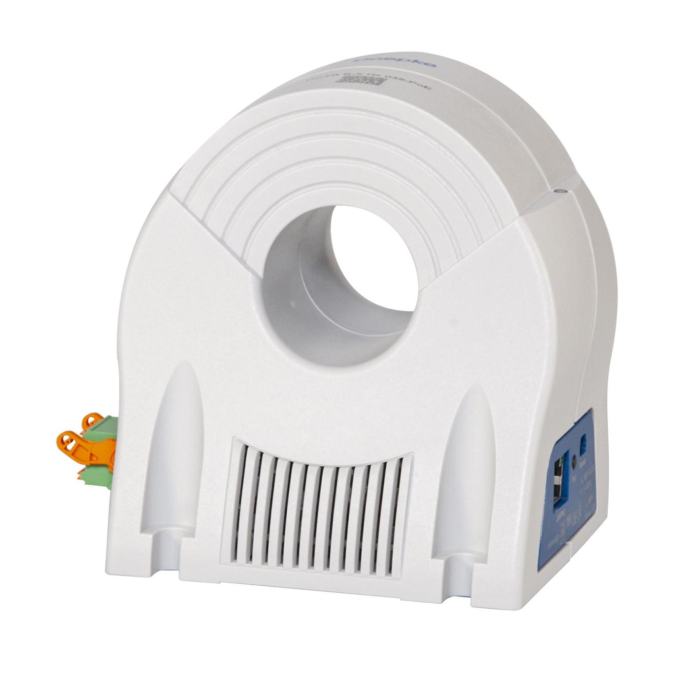Der smarte Differenzstromwandler DCTR mit PoE-Schnittstelle vereinbart Brand- und Anlagenschutz durch Überwachung mit individuell einstellbaren Parametern. (Bild: Doepke Schaltgeräte GmbH)