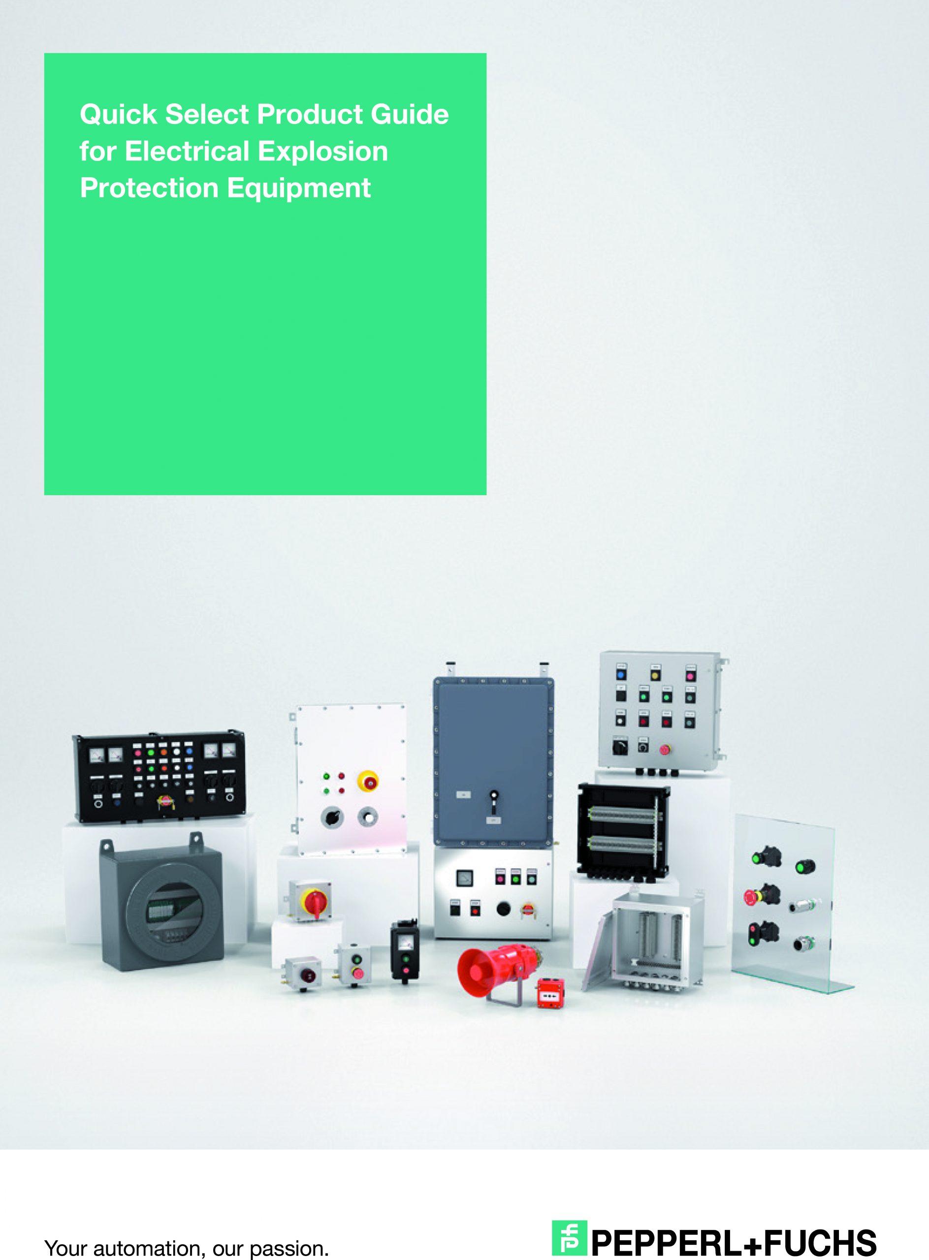 Quick Select Product Guide für elektrische Komponenten und Systeme für den Explosionsschutz