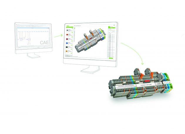 Mit der Wago-Konfigurationssoftware Smart Designer lassen sich geplante Klemmleisten einfach aufbauen. (Bild: Wago Kontakttechnik GmbH & Co. KG)