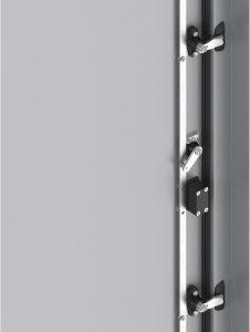 Der Kompressionsweg kann durch Rollenzunge und Auflauframpe bis zu 18mm betragen. (Bild: Emka Beschlagteile GmbH & Co. KG)