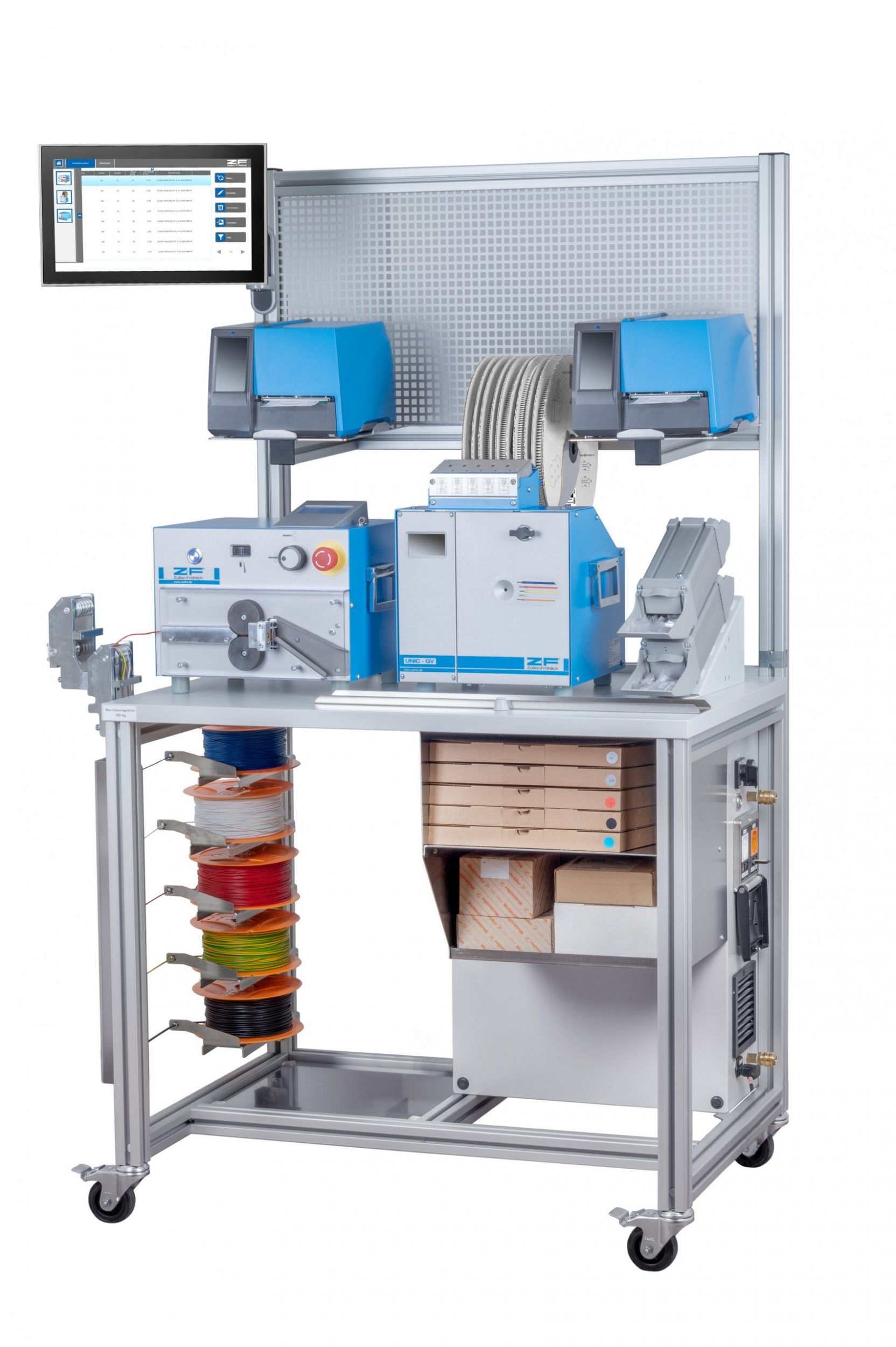 System zur teilautomatisierten Kabelverarbeitung