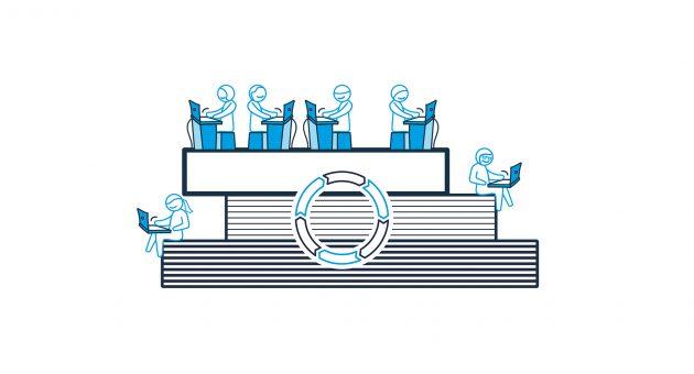 Agiles Engineering ist parallel und simultan: Unmittelbare Informationsweitergabe an alle Beteiligten durch zentrales Datenmodell und sicheres Änderungsmanagement (Bild: Aucotec AG)