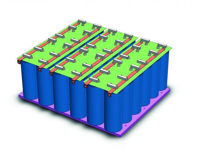 Mersen konzipierte für Idea ein Konzept, bei dem pro Schrank eine Vielzahl von Kondensatoren verbaut sind. (Bild: Mersen Deutschland Eggolsheim GmbH)