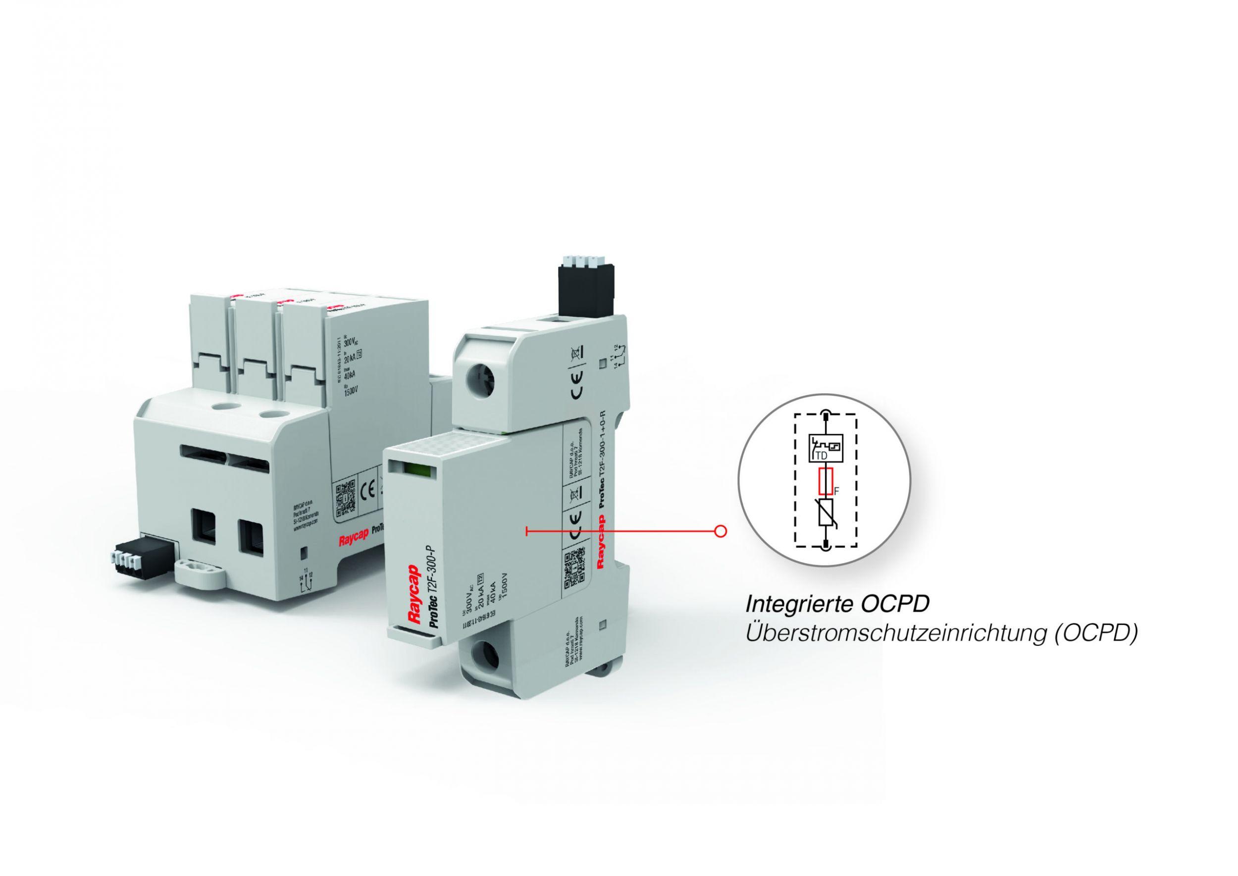 Typ-2-Ableiter mit integrierter Vorsicherung