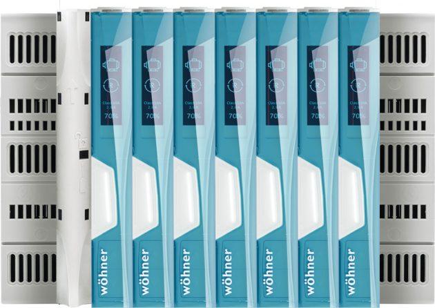 Die Produktserie ist mit einer CrossLink-Schnittstelle ausgerüstet und somit in allen Wöhner-Basissystemen einsetzbar. (Bild: Wöhner GmbH & Co. KG)