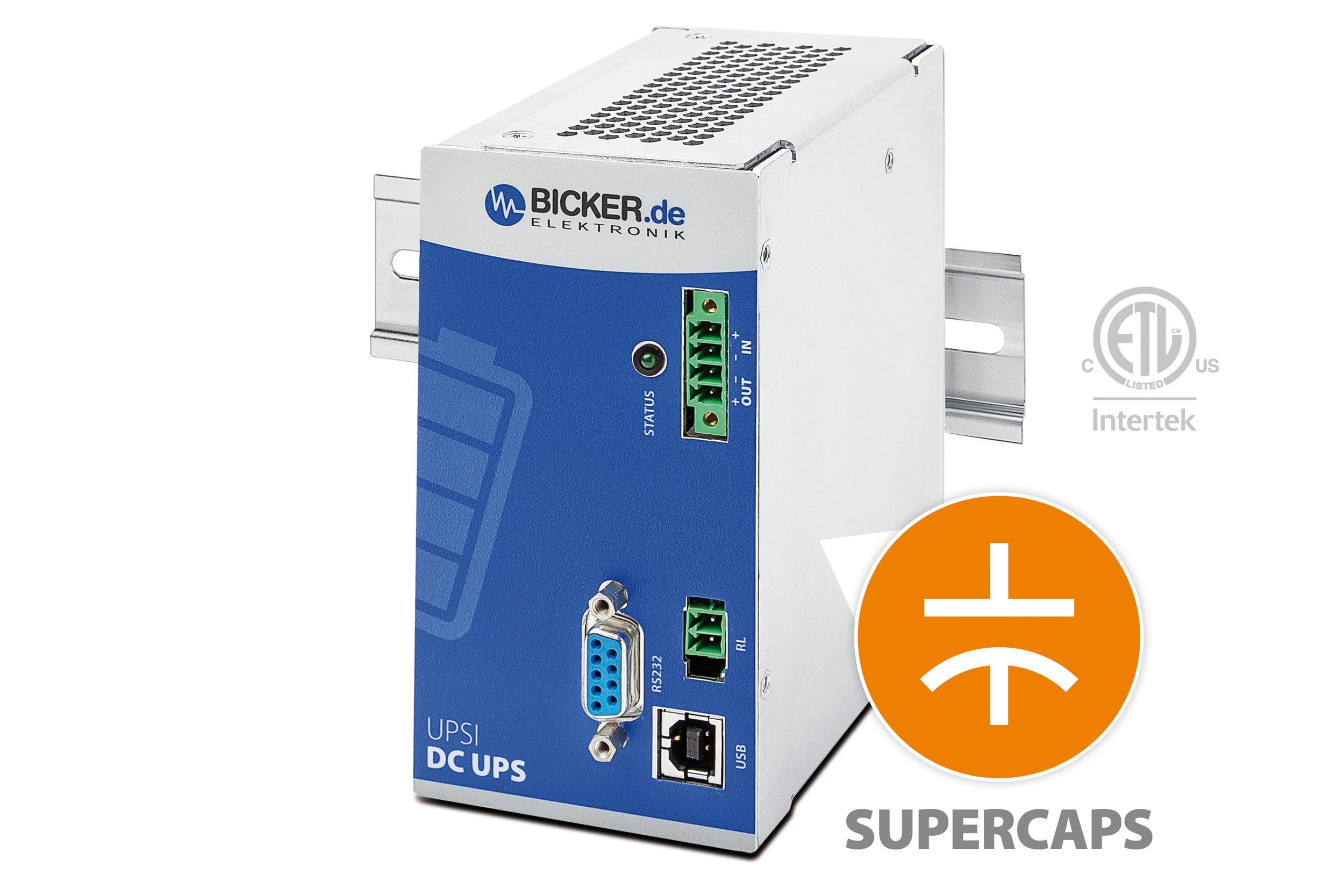 Wartungsfreie DC-USV mit Supercaps schützt vor Anlagenstillstand und Datenverlust