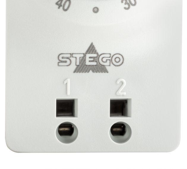 Bild 2   Klein-Thermostate von Stego mit Push-In Klemmen für schnelle und werkzeuglose Stromzuführung.