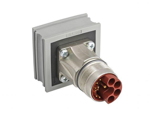 Bild 1 I AT-M Hybridsteckverbinder für die Signal-, Daten- und Leistungsübertragung