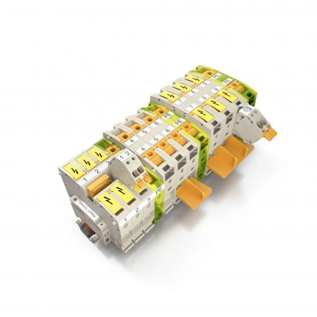 Weidmüller Durchgangsreihenklemmen A2C 50/70 und A2C 95/120 für die sichere und effiziente Verteilung des Stroms zu den Leistungsverbrauchern