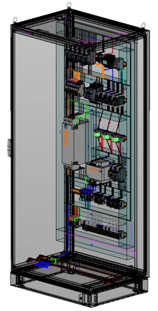 Bild 1 | Die 3D-Ansicht der Schaltschrankkomponenten von Block schafft für den User durch die räumliche Darstellungsform eine deutlich verbesserte Planungsgrundlage in Eplan Pro Panel.