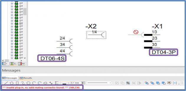 Bild 3 | Erweiterte Fehler-Checks melden jetzt auch den manuellen Anschluss von inkompatiblen Steckern