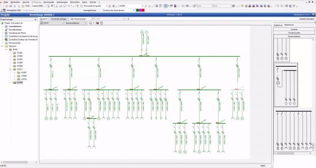 Bild 1 | Lösungen wie z.B. Caneco BT SE ermöglichen eine zeiteffiziente Planung und Auslegung des Niederspannungsnetzes unter Berücksichtigung der relevanten VDE-Richtlinien.