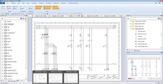 Bild 2 | Direkt aus der Konfiguration heraus ist es dann mit CAD-Lösungen wie z.B. SEE Electrical möglich, Stromlauf- und Verdrahtungspläne zu erzeugen.