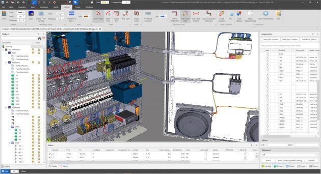 Bild 3 | Ergänzt um das Plug-in 3D Panel für Control Panels, das auch als lokales Stand-Alone genutzt werden kann, lässt sich so eine Schaltschrankplanung in 3D professionell umsetzen.