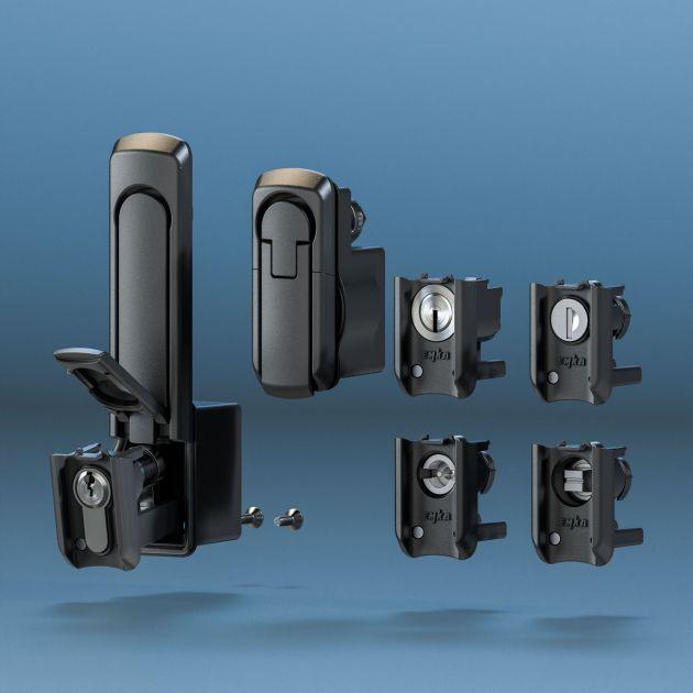 Bild 1 | Den flachaufbauenden Schwenkgriff bringt Emka Ende des Jahres auch als kleine Version auf den Markt - ebenfalls mit bis zu fünf Wechselbausteinen.