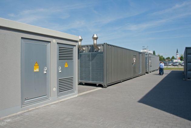 Bild 3 | Das Backup-Rechenzentrum ist in Containern neben dem Gebäude untergebracht.