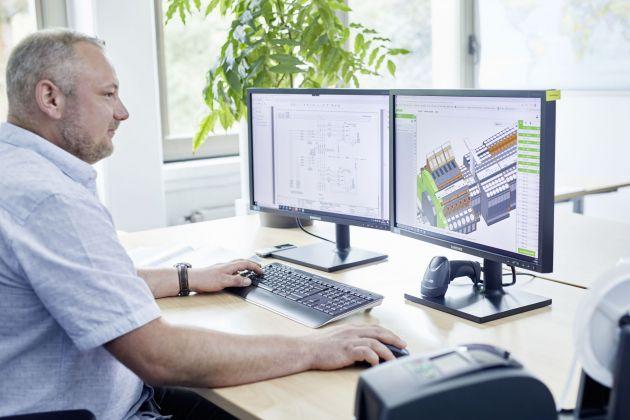 Bild 4 | Als Projektierungstool für den Aufbau der Klemmleisten nutzen die Ingenieure unter anderem den Smart Designer, den Onlinekonfigurator von Wago.