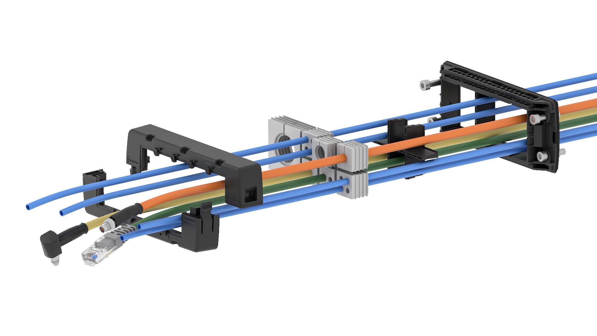 Inverse und modulare Kabeldurchführung bietet Schutzart IP66 und zuverlässige Zugentlastung
