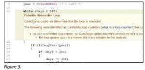 Vereinfachte Version des Codes mit dem Infinite Loop Bug (Bild: GrammaTech Inc.)