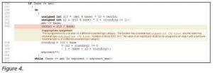 Beispiel eines Type Mismatch (Bild: GrammaTech Inc.)