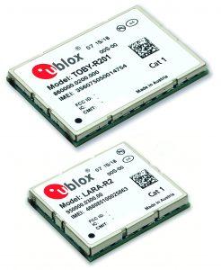 Abb.: LTE Cat. 1-Produkte von u-blox (Bild: u-blox AG)