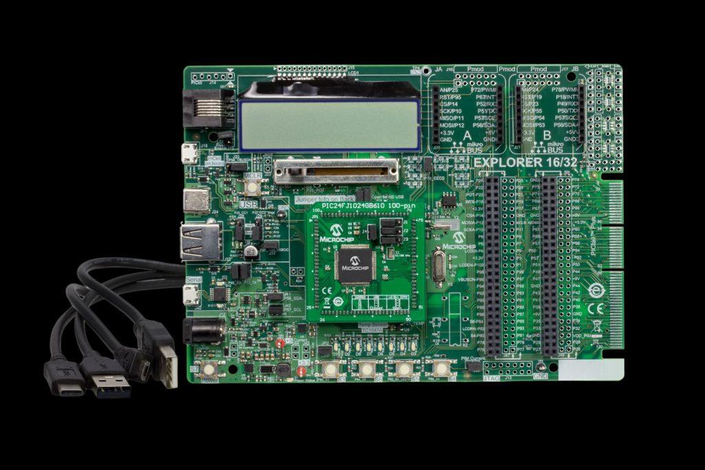 Entwicklungsboard für Anwendungen mit 16- und 32-Bit PIC-Mikrocontroller
