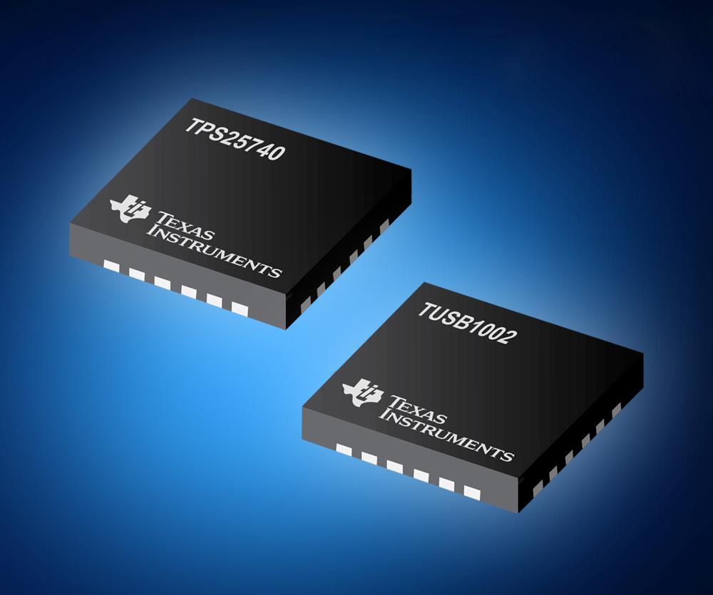 USB-PD-Source-Controller und USB-3.1/10-Gbit/s-Redriver von TI jetzt bei Mouser