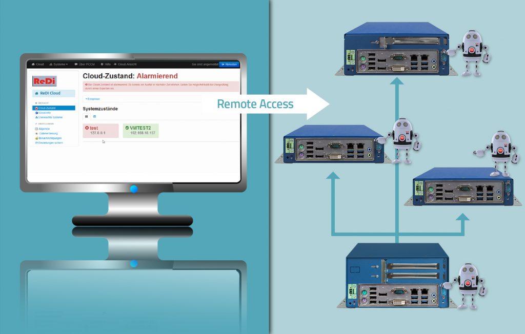 Industrierechner mit Remote Diagnostic Tool für predictive maintenance
