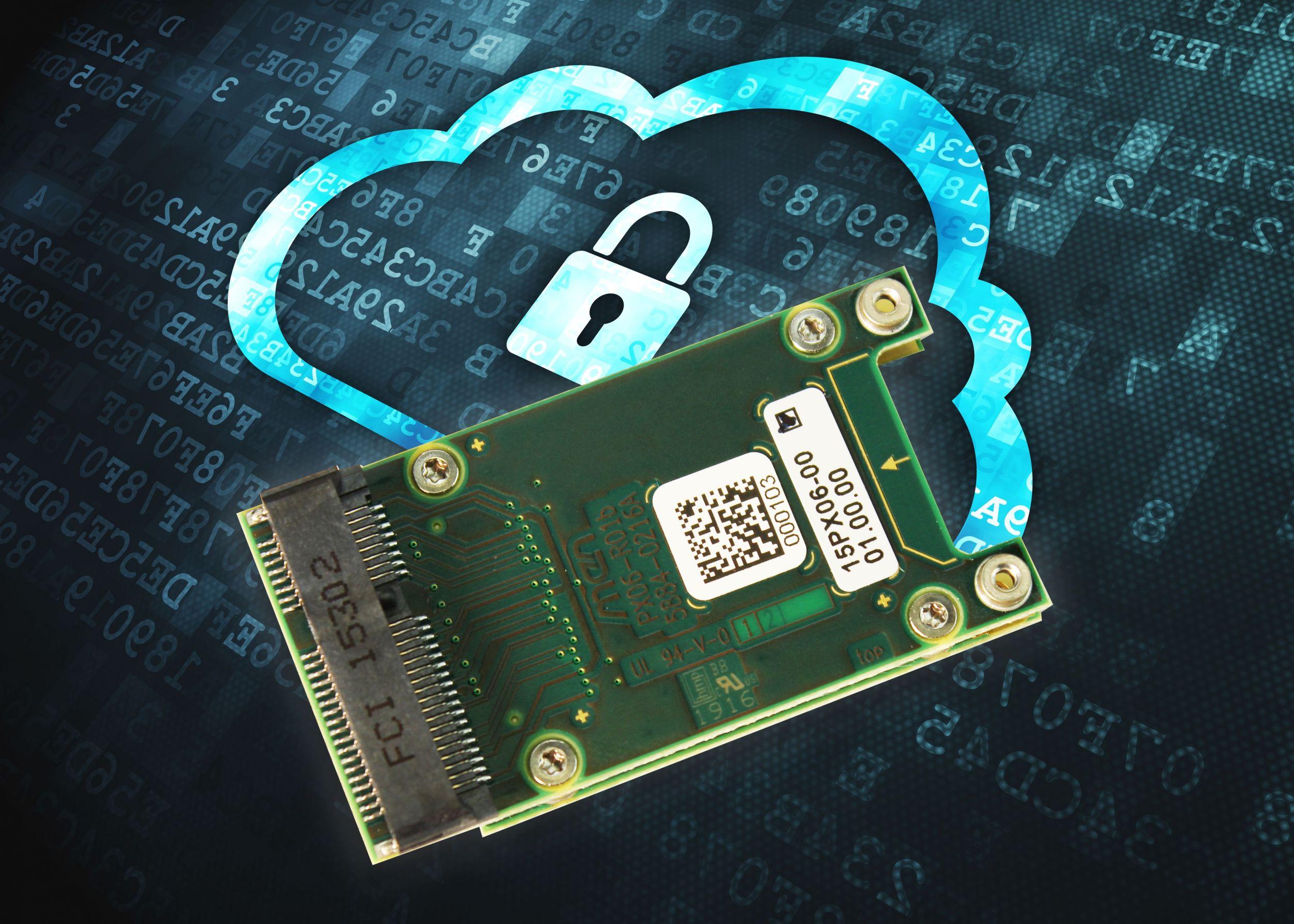 Sicher in die Cloud: PCI-Express-Mini-Card mit Smart-Card-Schnittstelle