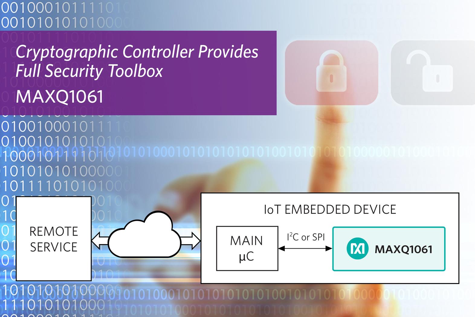 Kryptografie-Controller bietet schlüsselfertige Sicherheit für vernetzte Geräte